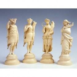 MARFIL FRANCES '4 ESTACIONES' S. XVIII-XIX