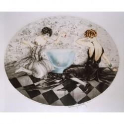 ICART Louis (1888-1950) FRANCESA 'Chicas en la pecera' 1927.