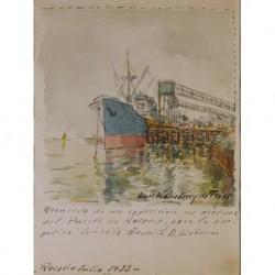 MARISTANY de TRIAS Luis (1885-1964) --URUGUAYA / ESPAÑOLA-- 'Puerto de Rosario' 1933