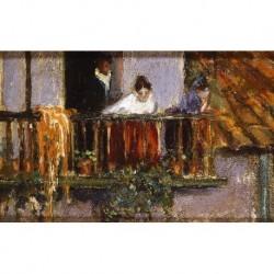 ANÓNIMO (mm. S. XX) --ARGENTINA-- 'Desde el balcón'