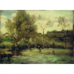 COROT Camine Jean Baptiste (1796-1875) --FRANCESA-- 'Escena campestre'