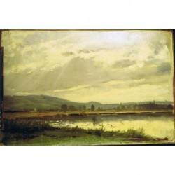 EILERS Conrad (1845-1914) --ALEMANA-- 'Paisaje con estanque'