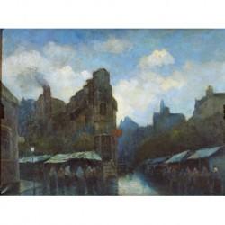 ILEGIBLE (2/3 S. XIX) --FRANCESA-- 'Escena de ciudad'