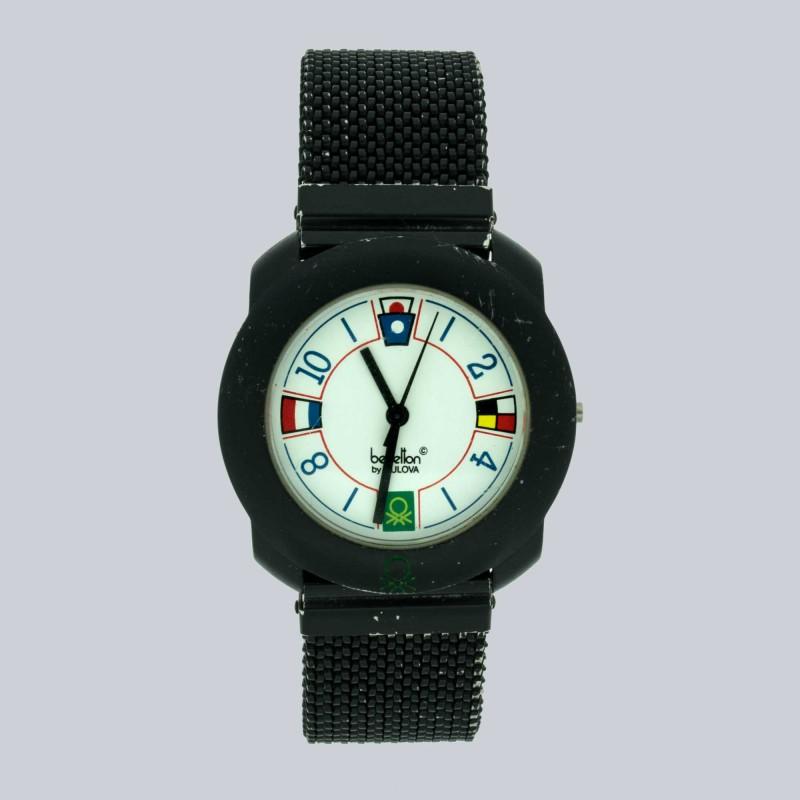 Colección 1991De En Aluminio A By Cuarzo Movimiento Reloj Acero Bulova1990 Benetton n8NkwPX0O