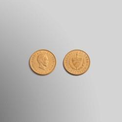 5 PESOS CUBANOS 1916 ORO 900 mims.