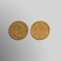 4 FLORINES 10 FRANCOS AUSTRIACOS ANTIGUOS 1892 ORO 900 mims.