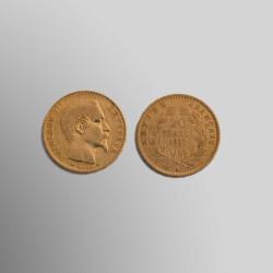 20 FRANCOS FRANCESES 1856 ORO 900 mims.