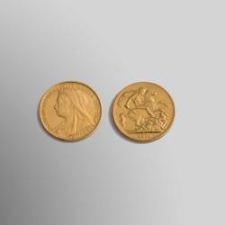SOBERANO / LIBRA ESTERLINA REINA VICTORIA 1900 ORO 916,67 mims.