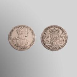 DALER CARLOS XII DE SUECIA 1718 PLATA