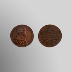 MEDALLA CARLOS XII DE SUECIA 1718 BRONCE