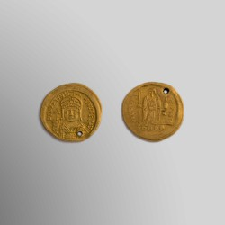 SÓLIDO JUSTINIANO I (527 - 565) CONSTANTINOPLA ORO 24k
