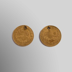 100 KURUSH TURCOS 1876 ORO 24k