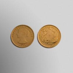 20 PESOS CHILENOS IGUAL 2 CONDORES 1926 ORO 900 mims.