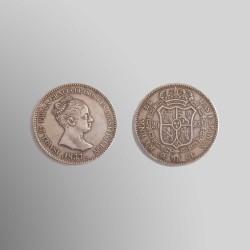RÉPLICA 20 REALES ISABEL II 1837