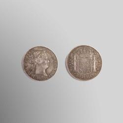 RÉPLICA 20 REALES ISABEL II 1856