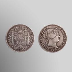RÉPLICA 20 REALES ISABEL II 1858