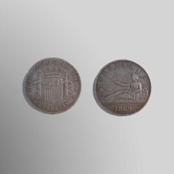 RÉPLICA 5 PESETAS 1869 I REPÚBLICA