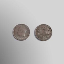 50 LEPTÁ GRIEGOS 1966 CUPRONÍQUEL