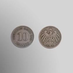 10 PFENNIG ALEMANES 1892 CUPRONÍQUEL