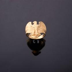 Anillo en forma de aguila en oro amarillo de 18K