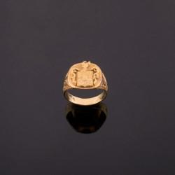 Anillo tipo sello en oro amarillo de 18K.