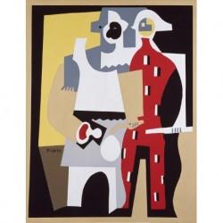 PICASSO Pablo RUIZ (U1881-1973) CATALANA/ESPAÑOLA 'Pierrot y Arlequín' 1920