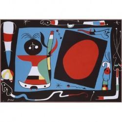 MIRÓ Joan (1893-1983) --CATALANA / ESPAÑOLA -- 'Femme au Miroir' (Mujer del Espejo) 1956