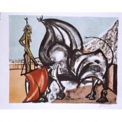 DOMINGUEZ Oscar (1906-1957) --CANARIA / ESPAÑOLA-- ' Tauromaquia ' 1955