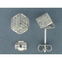 PENDIENTES DADOS ORO BLANCO 750 mm. BRILLANTES 0,83 ct