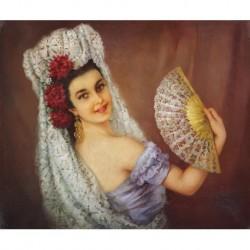 APESTEGUÍA Efrén Pelayo (1900-1970) --PERUANA-- 'Manola'