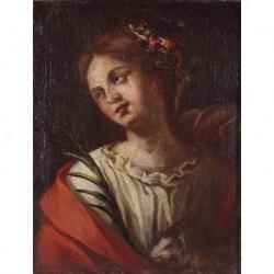 ANÓNIMO S. XVII --EUROPEA-- 'Santa Inés'
